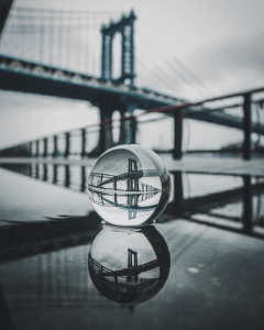 lensball photography on water