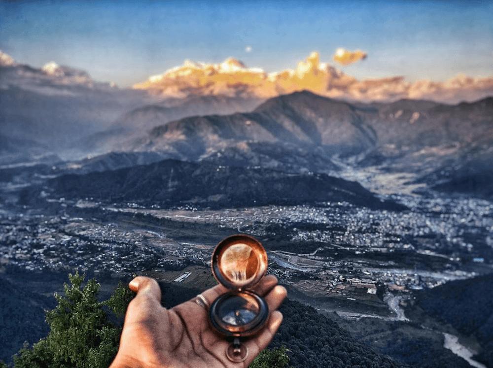 compass for creative photos