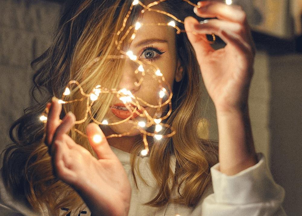 fairy lights creative photography ideas