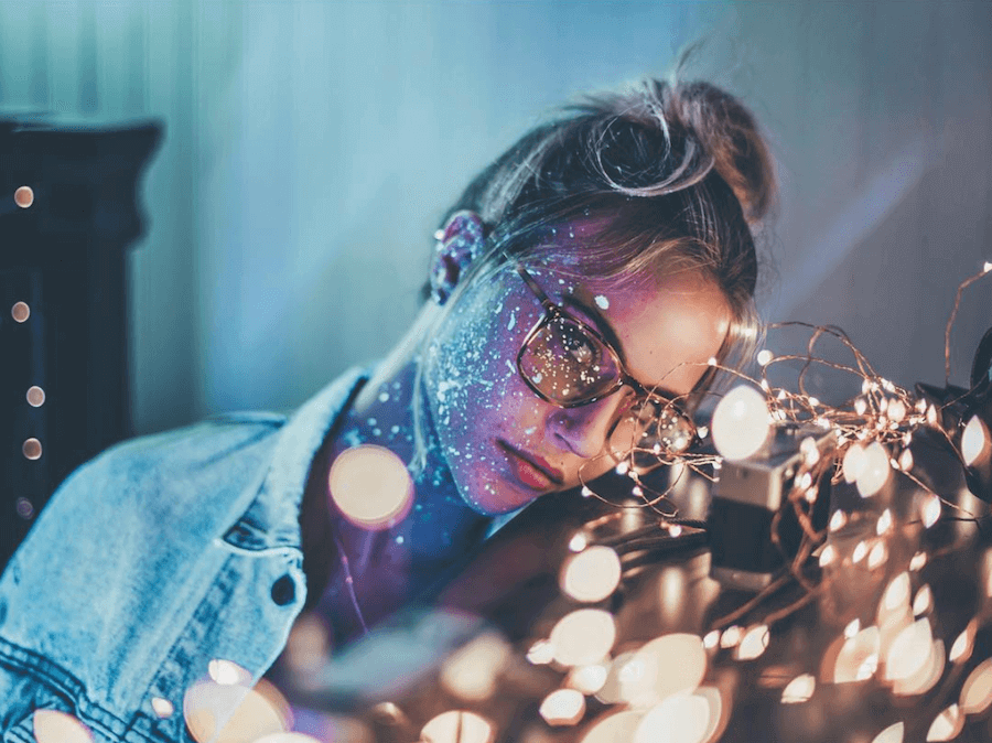 fairy lights for portraits
