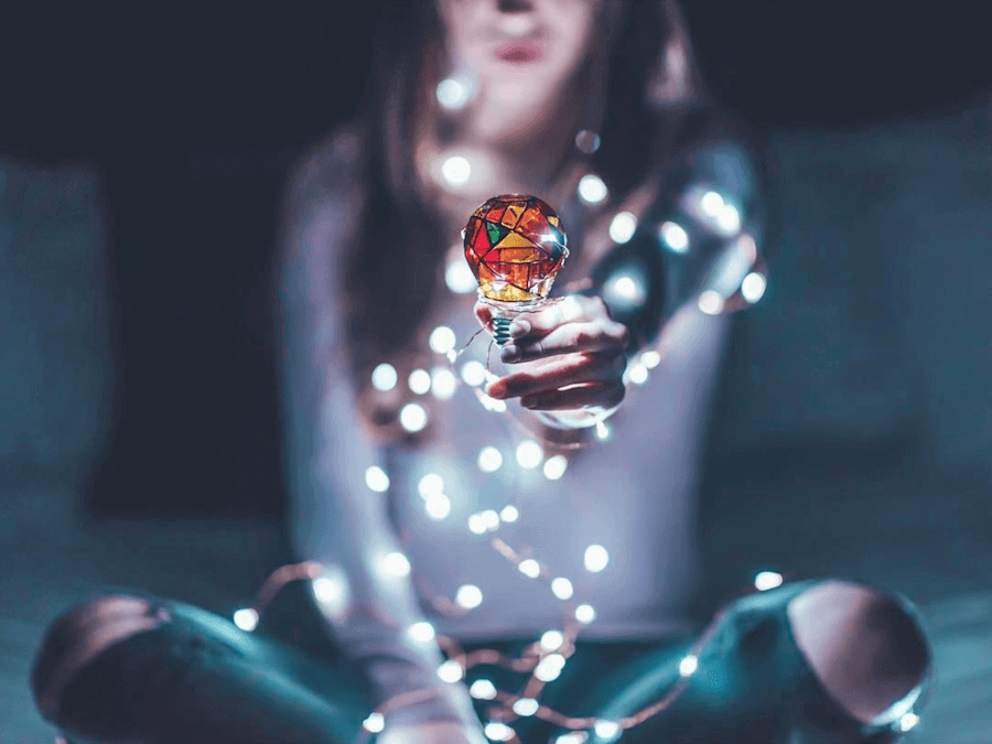 fairy lights photography around objects