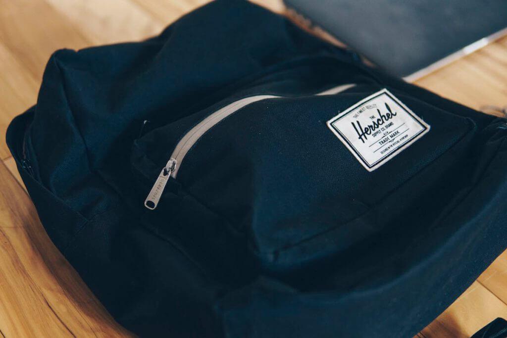 herschel backpack as tech bag