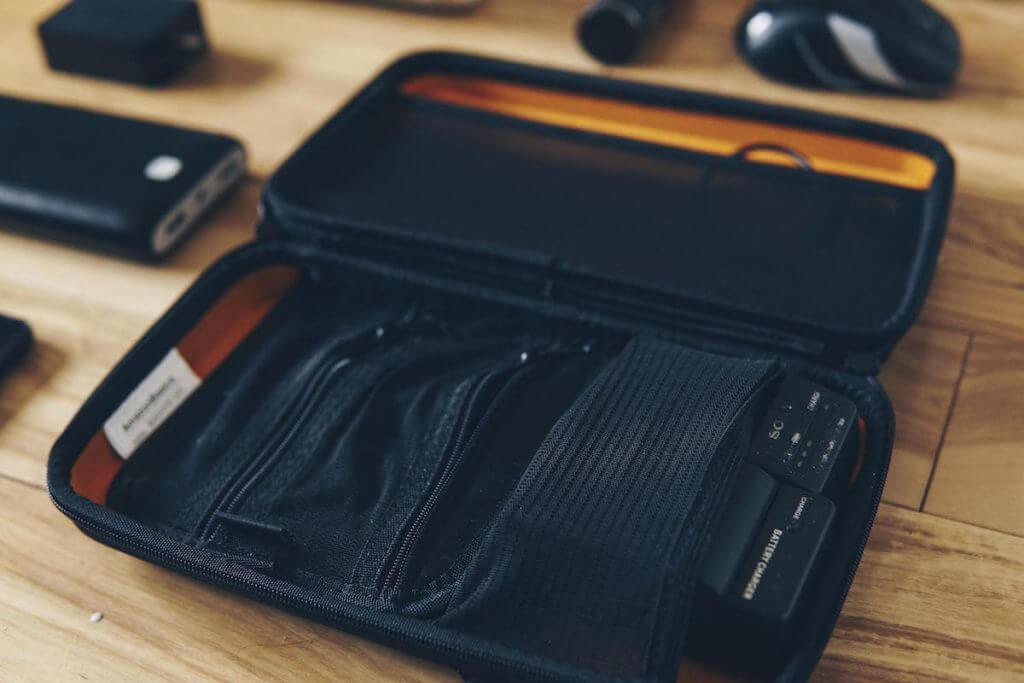 tech accessory case for tech bag