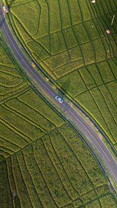 Drone image of farms airloft