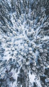 Hneri Winter Drone Wallpaper