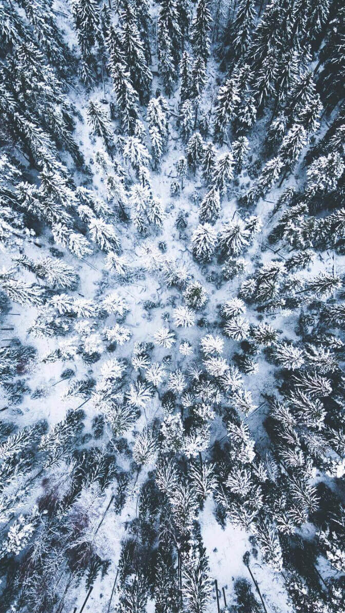 Hneri Winter Drone Wallpaper