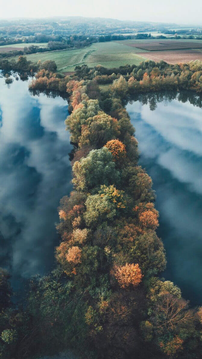 Lennart Drone Forest and Lake