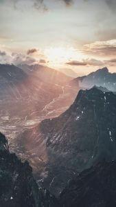 Lennart Drone Mountain Wallpaper