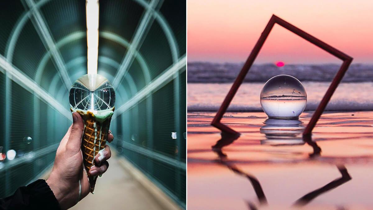 Creative Glass Ball Photography Idea