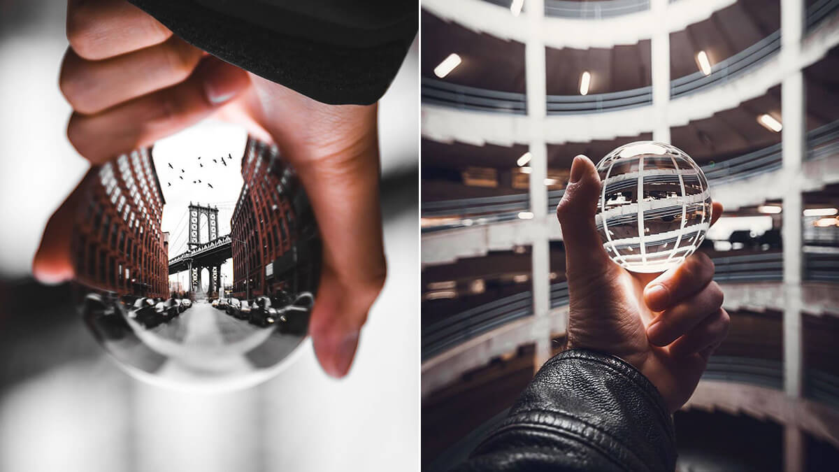 Handheld Lensball Photography Ideas
