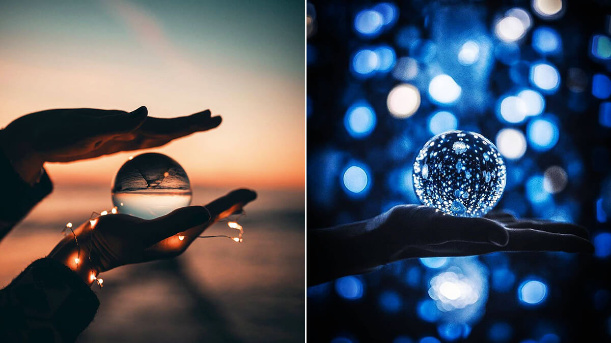 Crystal Ball Photography with Fairy Lights