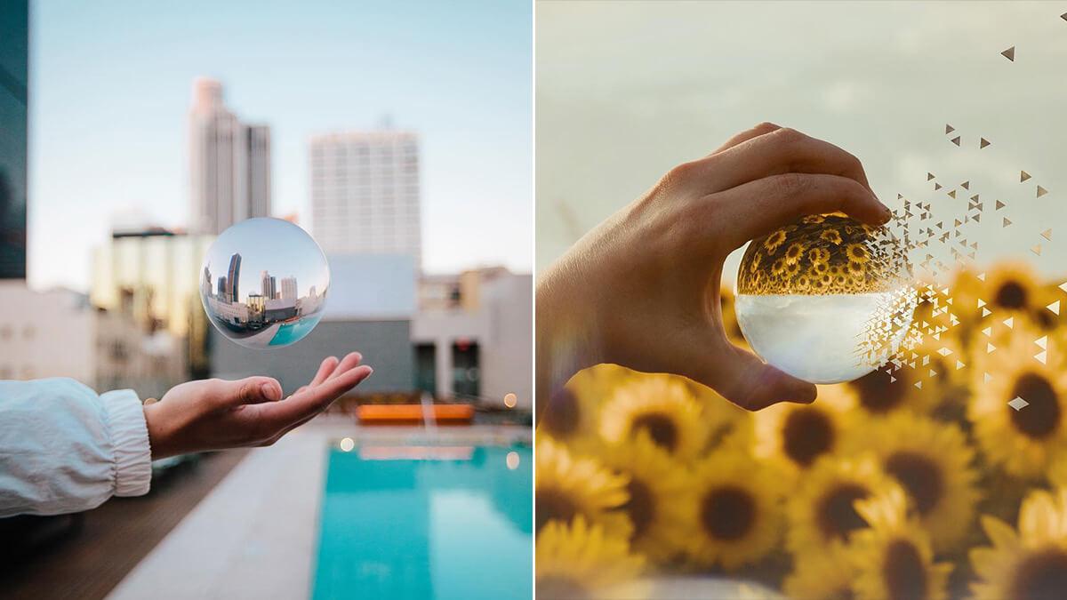 Crystal Glass Ball Photoshop Ideas