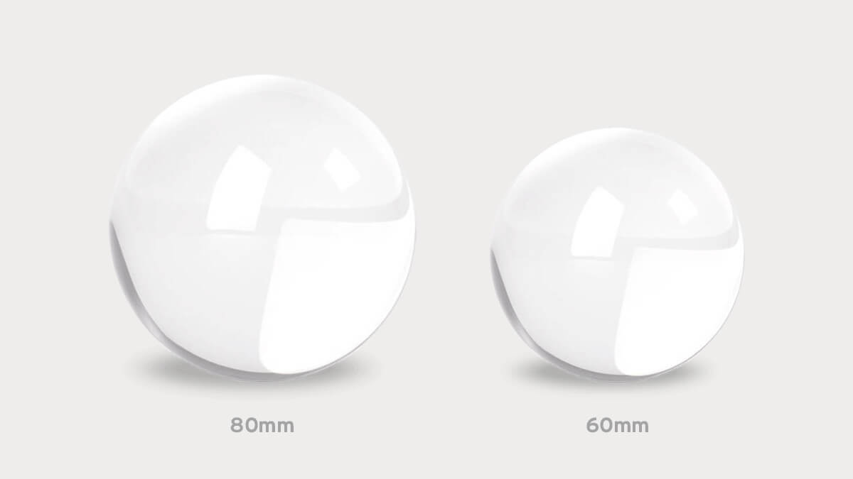 Best Size Lensball for Photography