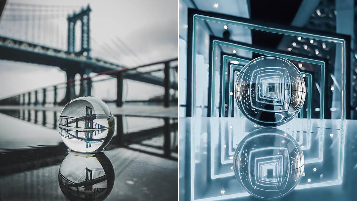 Crystal Ball Water Reflection