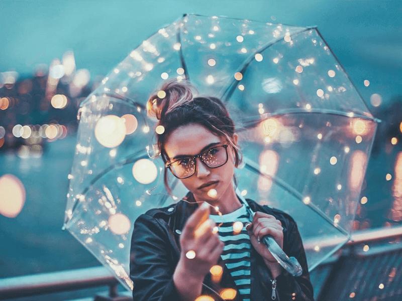 clear umbrella photography