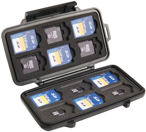 Pelican SD card hard case