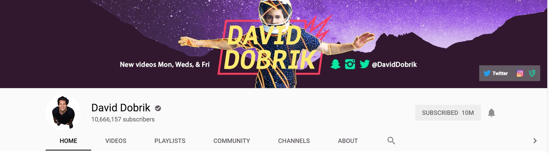 David dobrik vlog schedule