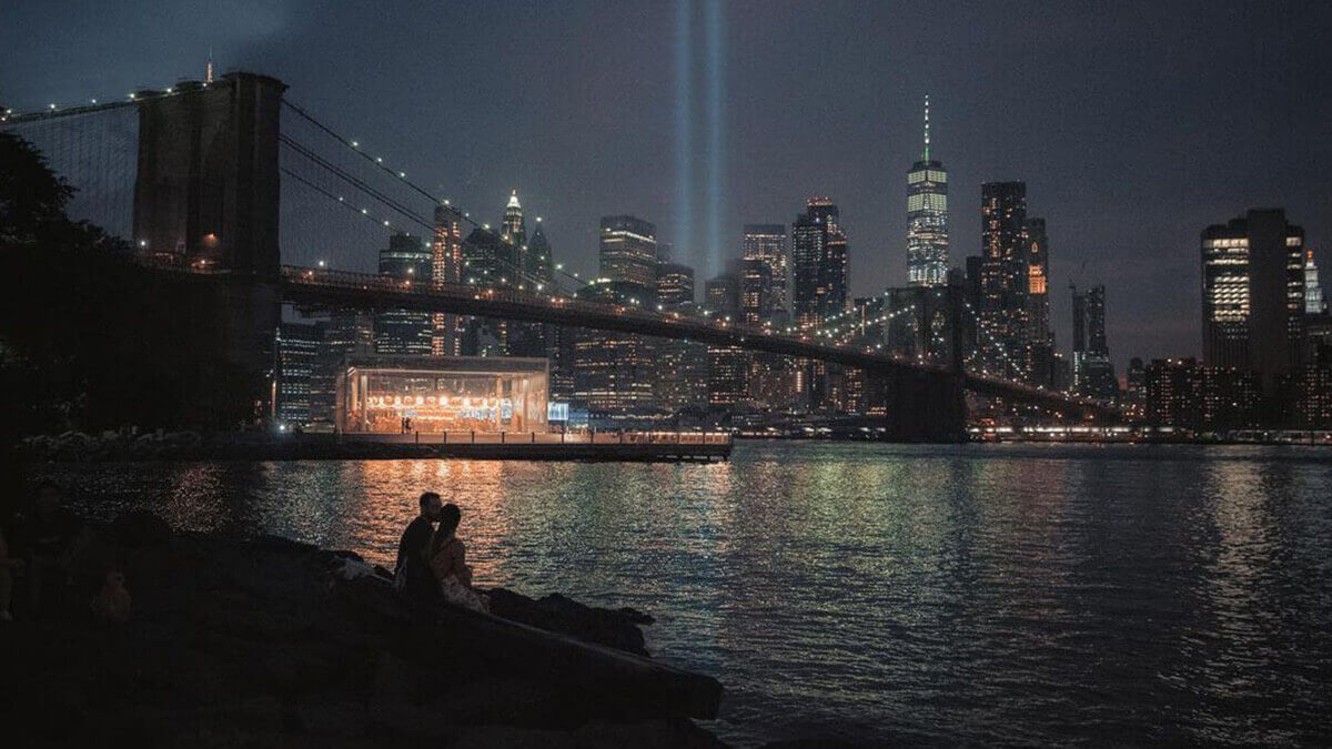 New York Pebble Beach Skyline Photography
