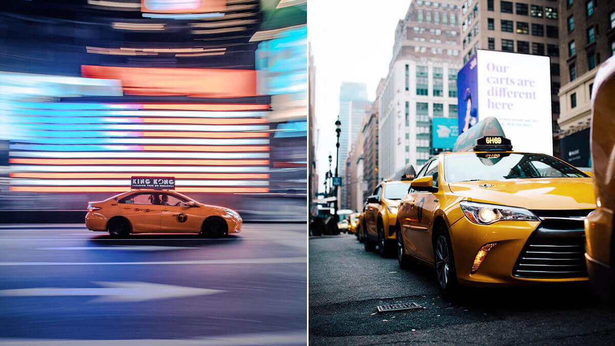 NYC Cab & Taxi Photography Ideas
