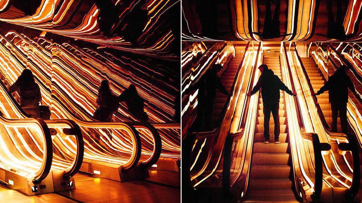 PUBLIC Hotel Escalators Photography