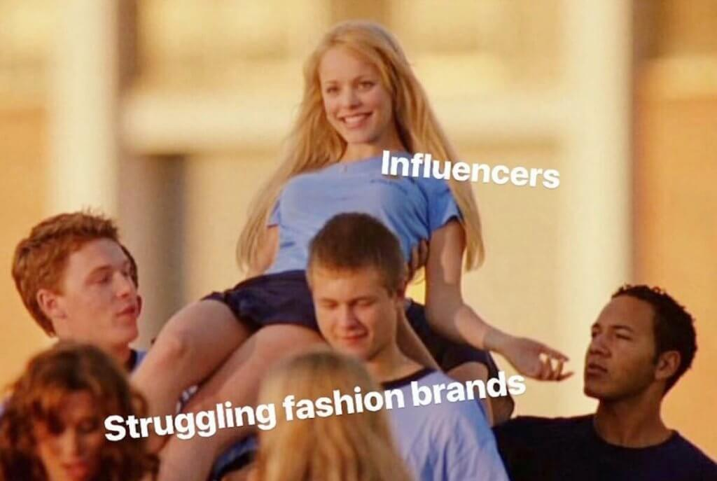 fashion brand influencer meme