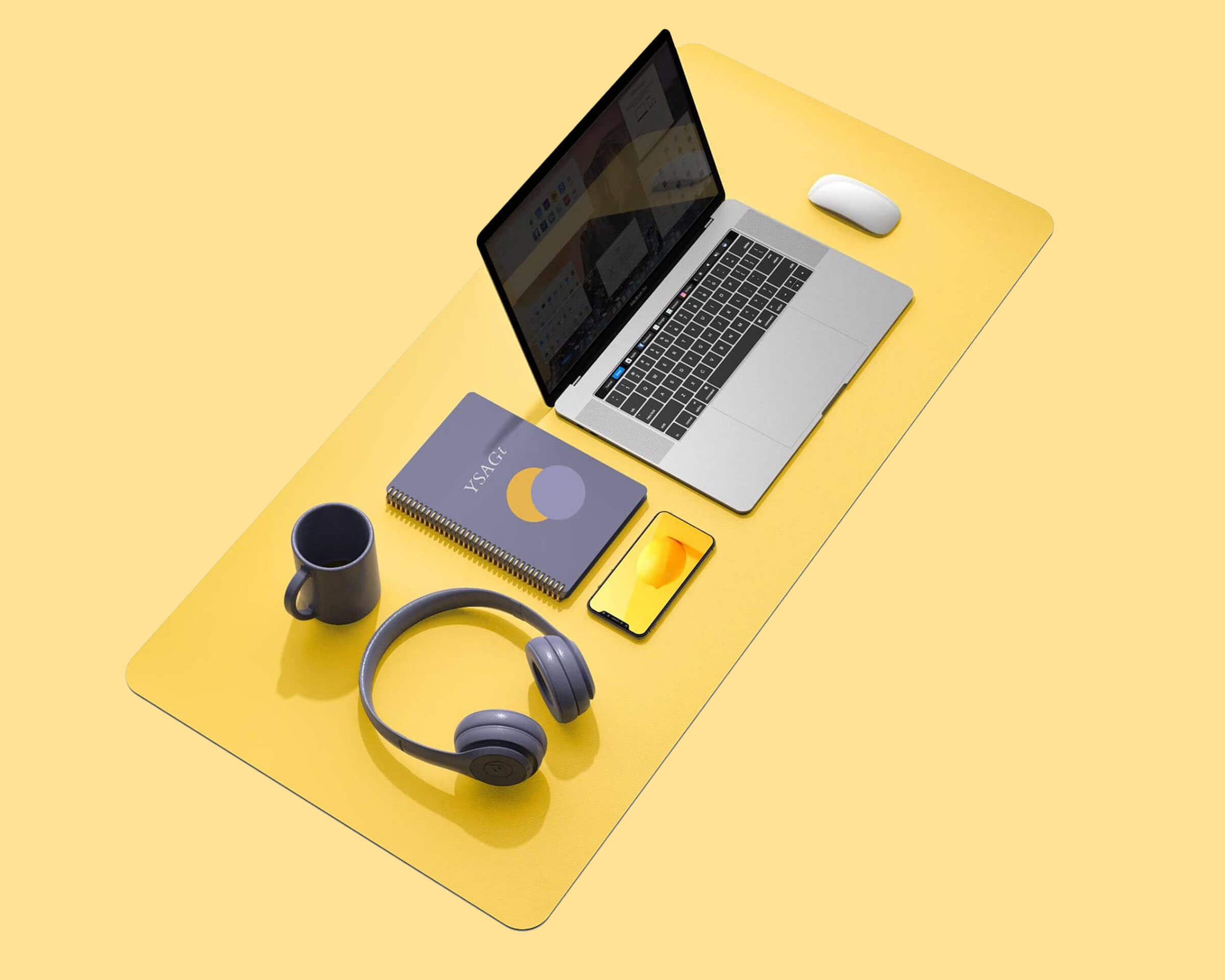 Yellow Desk Pad Idea