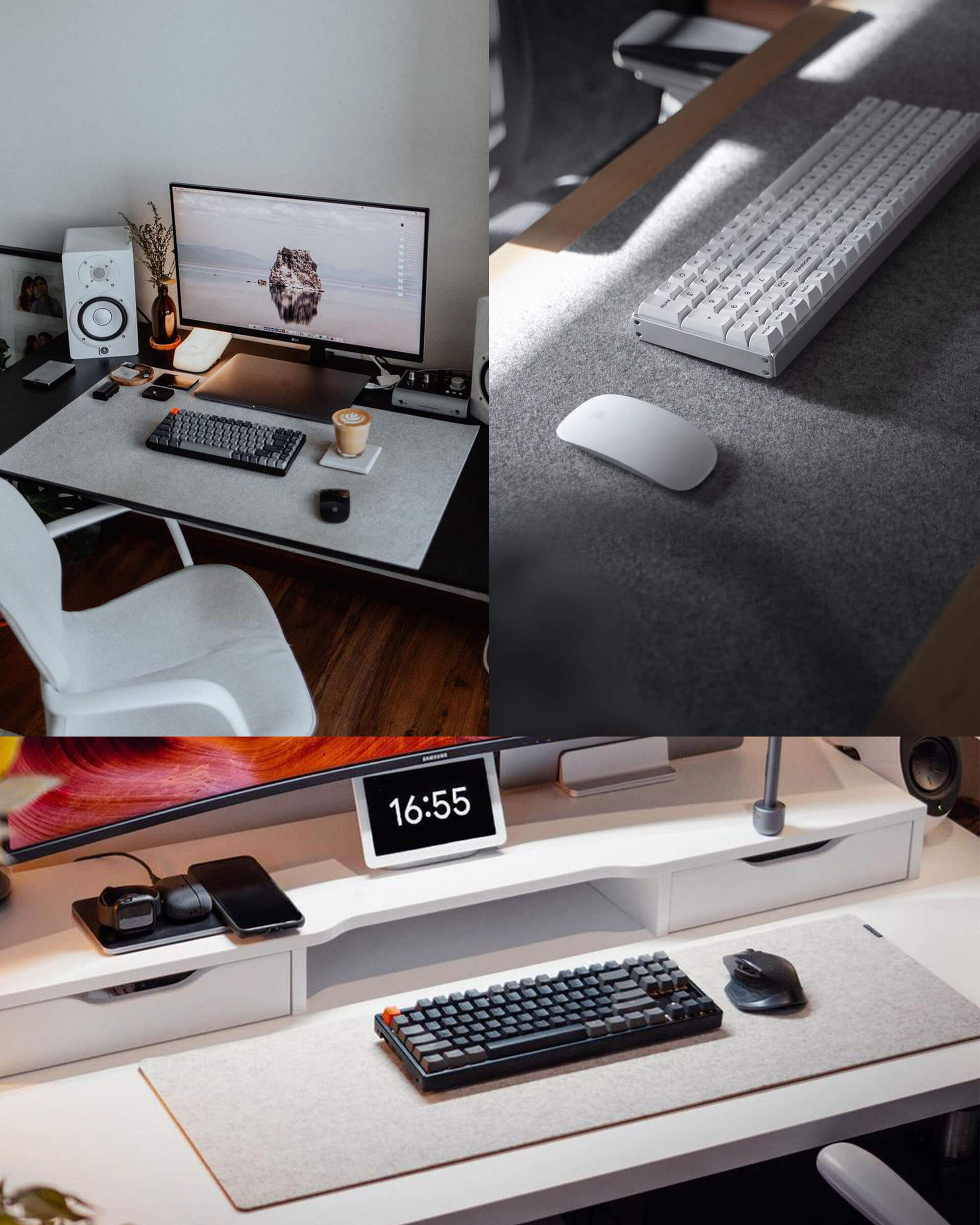 Felt Desk Pad - Fabric Tabletop Cover