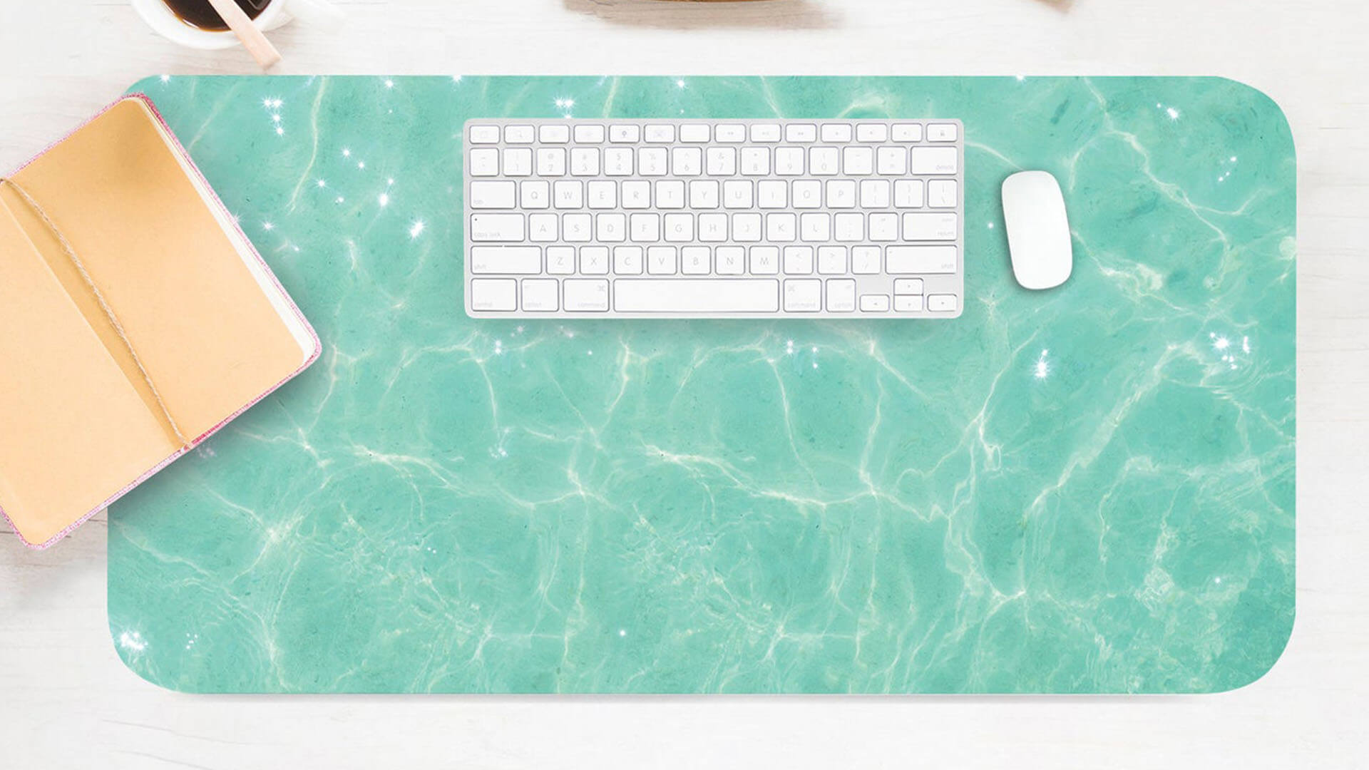 Clear Water Aesthetic Desk Cover