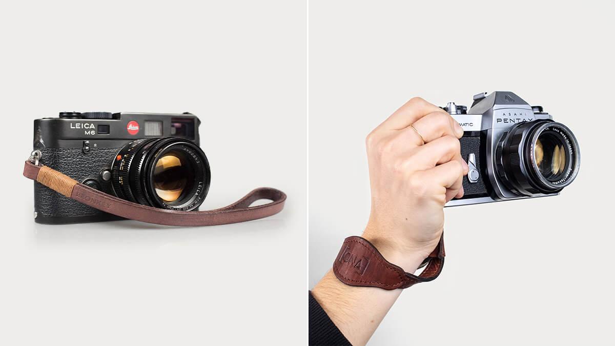 Genuine Leather Camera Wrist Strap