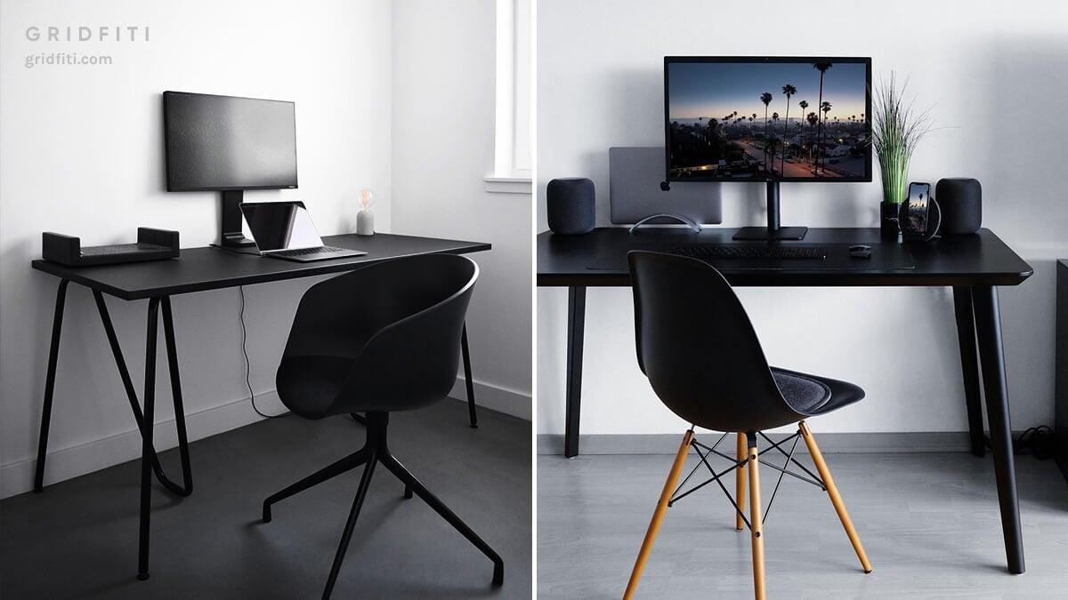 All-Black Desk Setup Ideas
