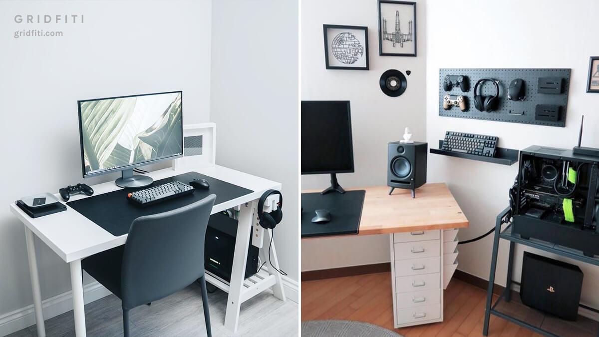 Modern Minimal Gaming Desk Setup