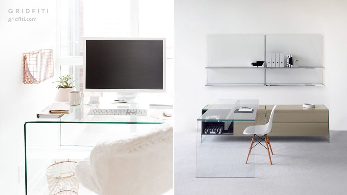 Glass Desk for Aesthetic Home Office