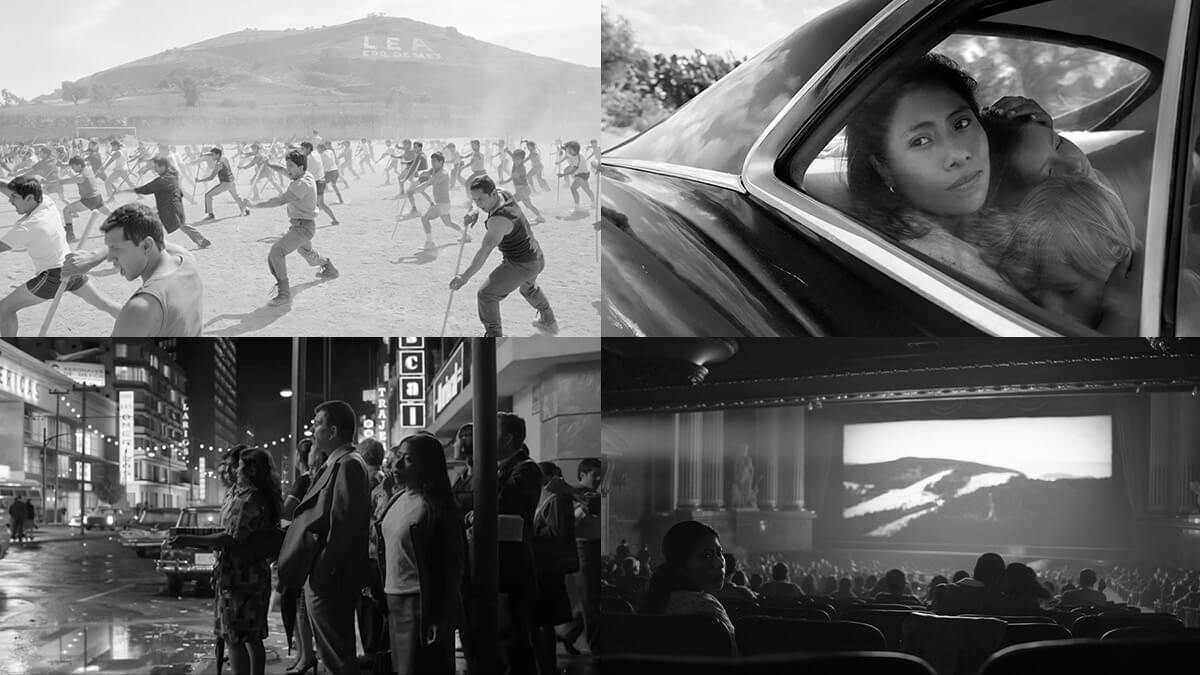 Roma Black and white movie stills