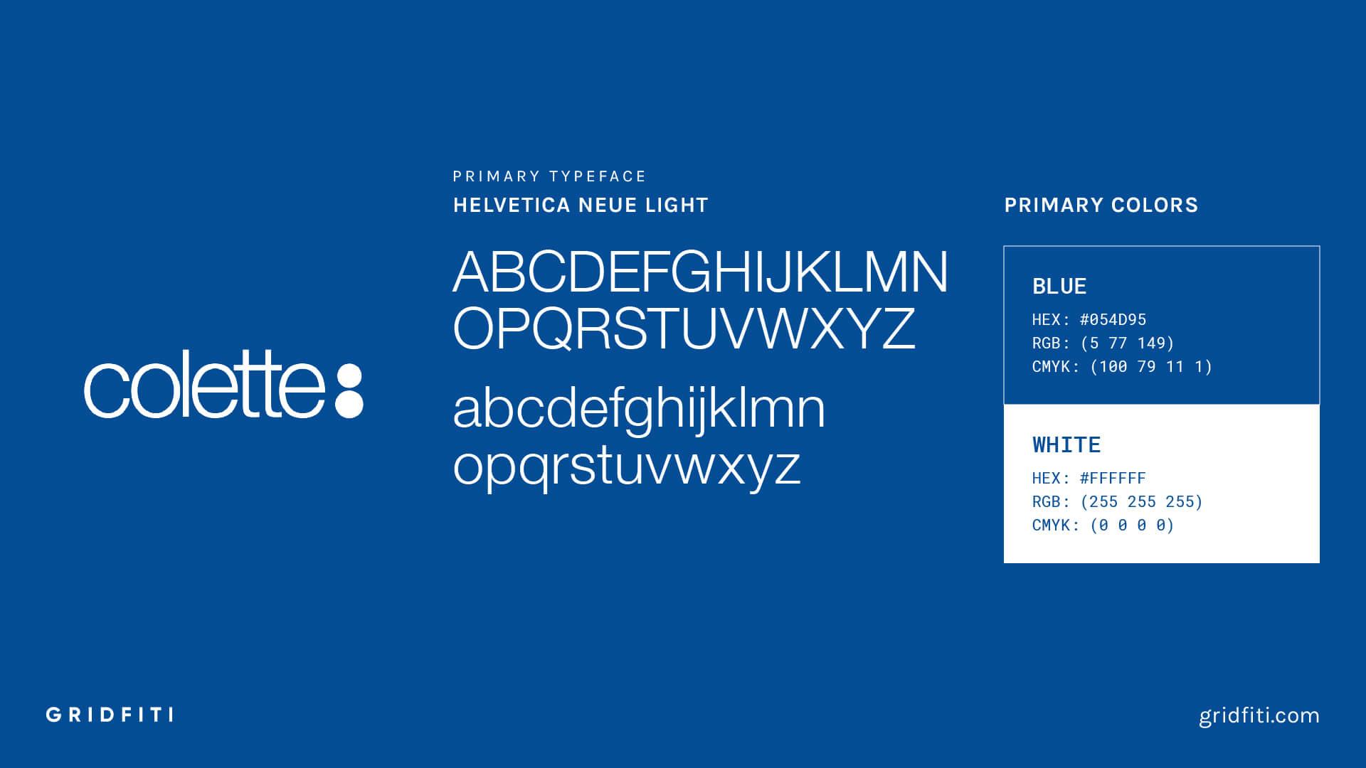Colette Brand Font & Logo Colors