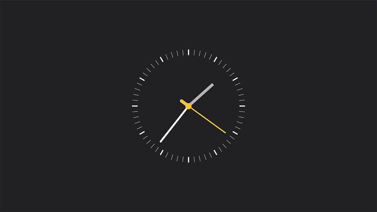 Simple Analog Watch Clock Mac Screensaver