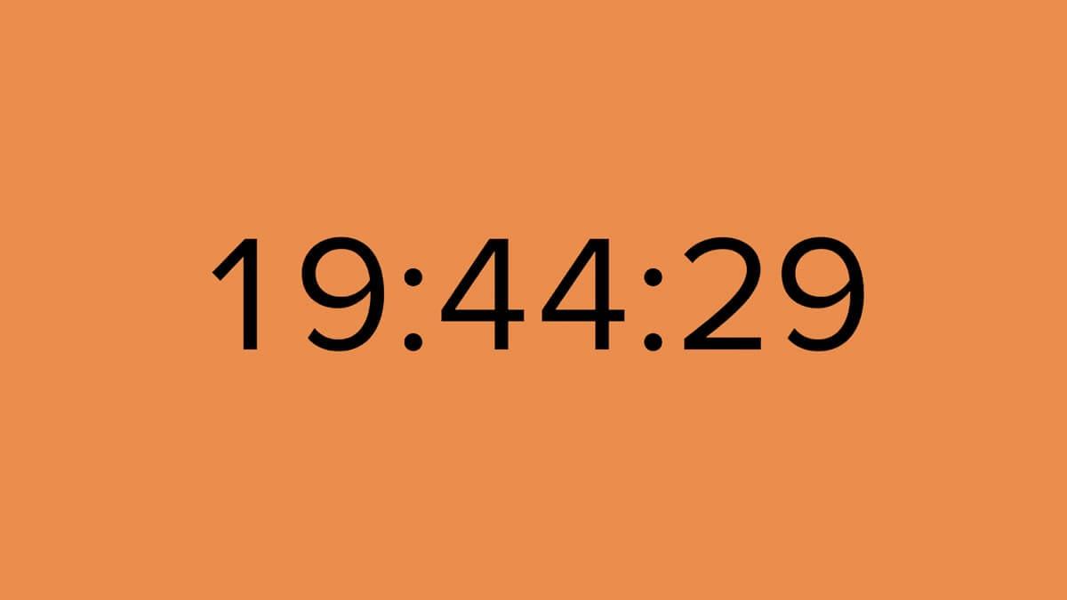 Color Clock Screensaver for Mac
