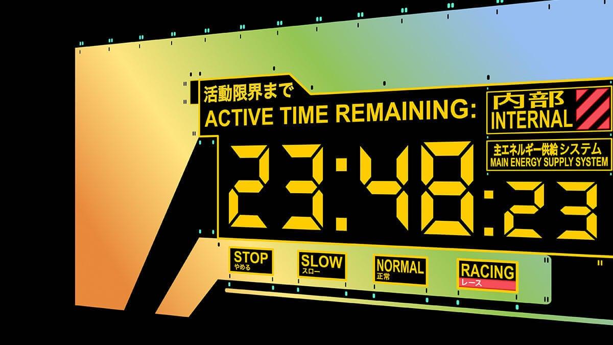 Evangelion Clock Neon Screensaver