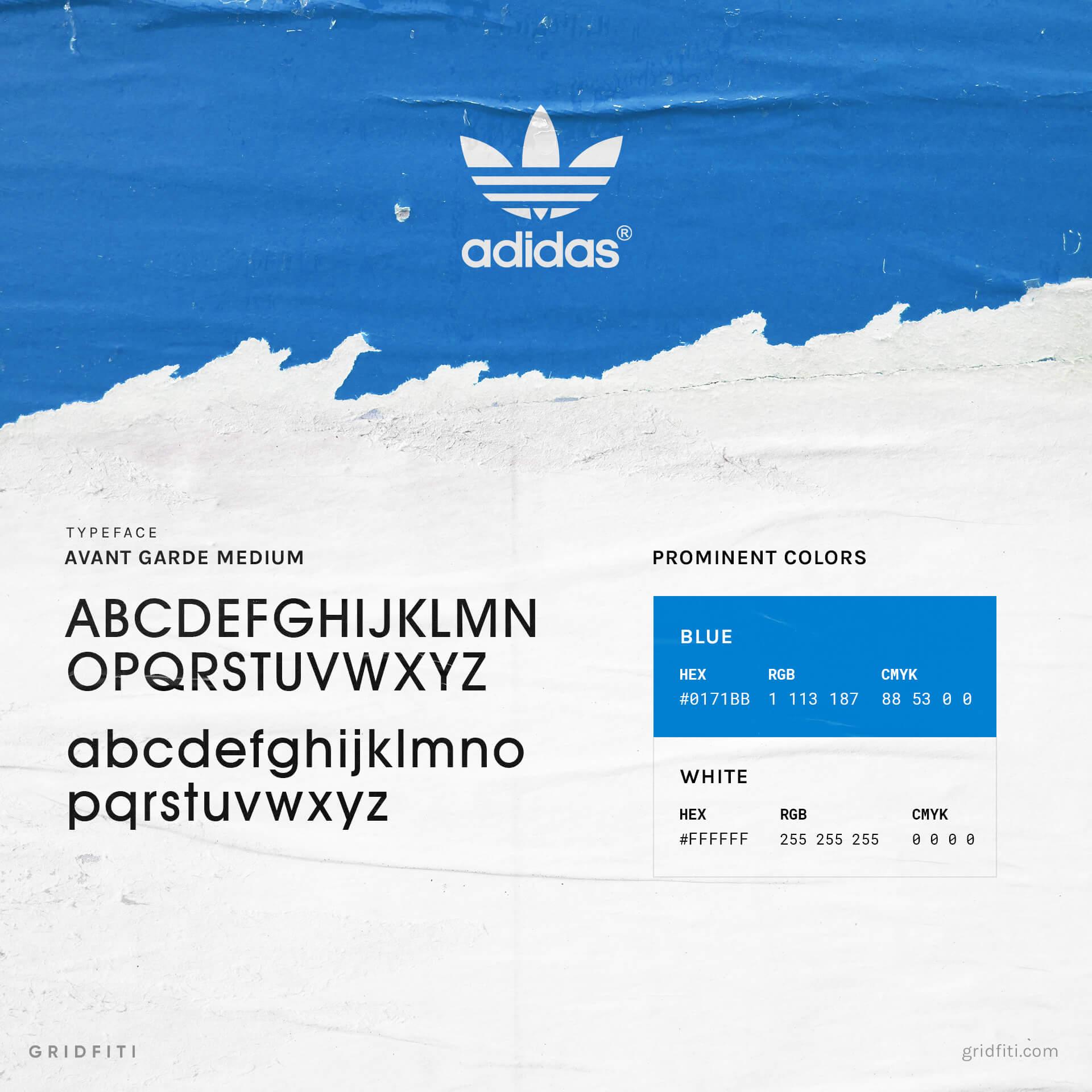 Adidas Font & Brand Colors