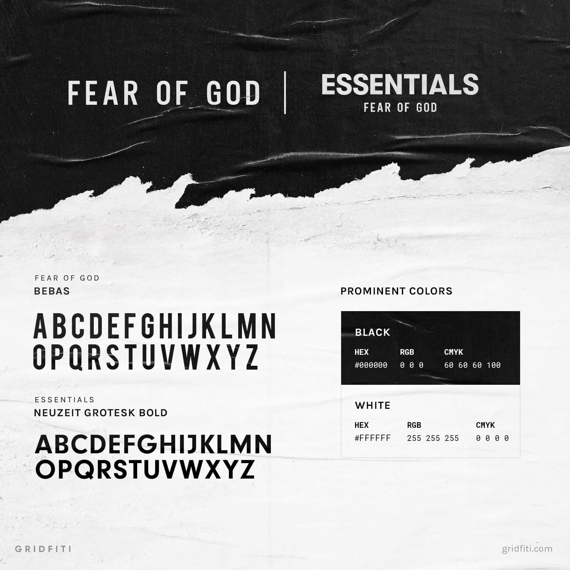 Fear of God Font