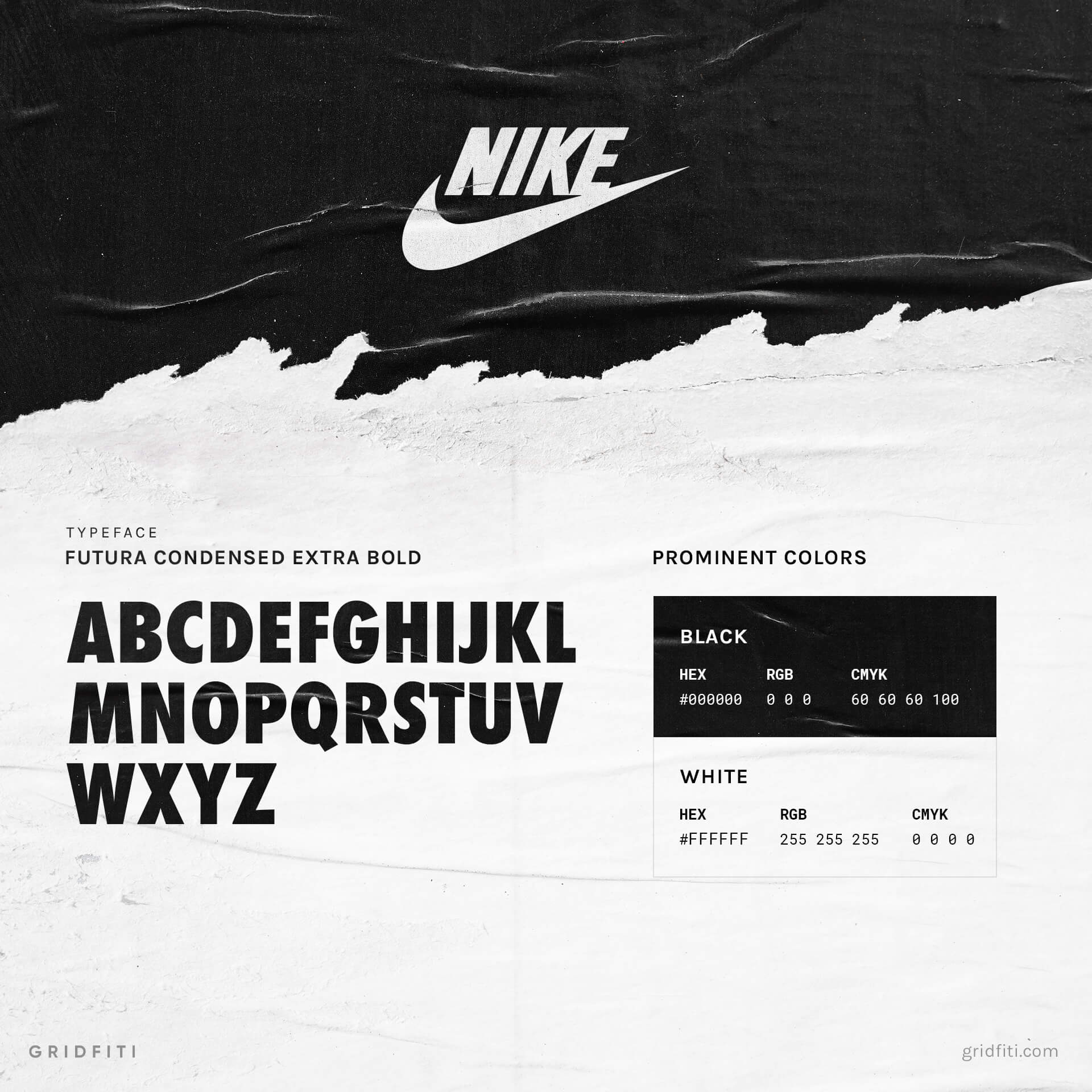 Nike Font Style & Brand Colors