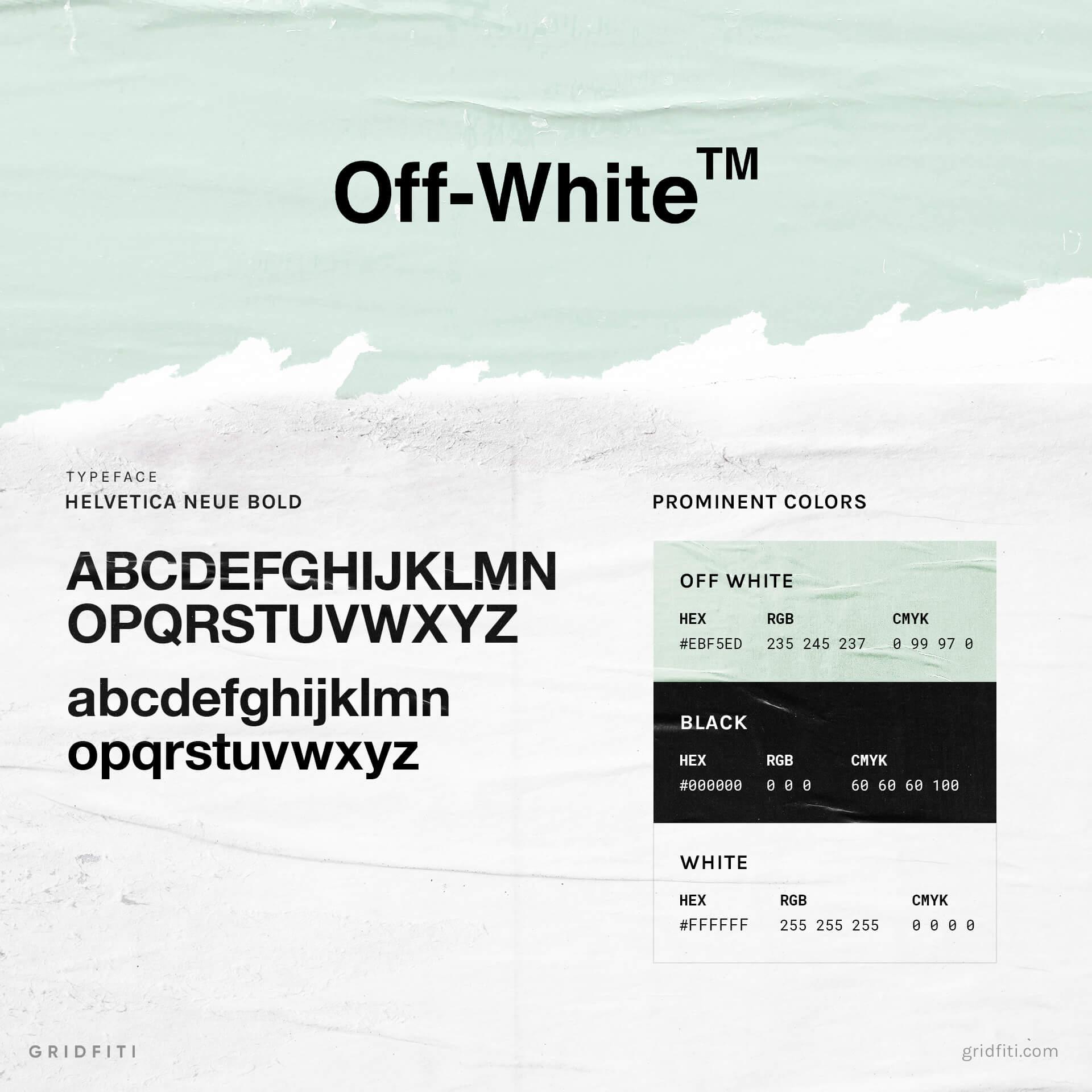 Virgil Abloh Off White Font