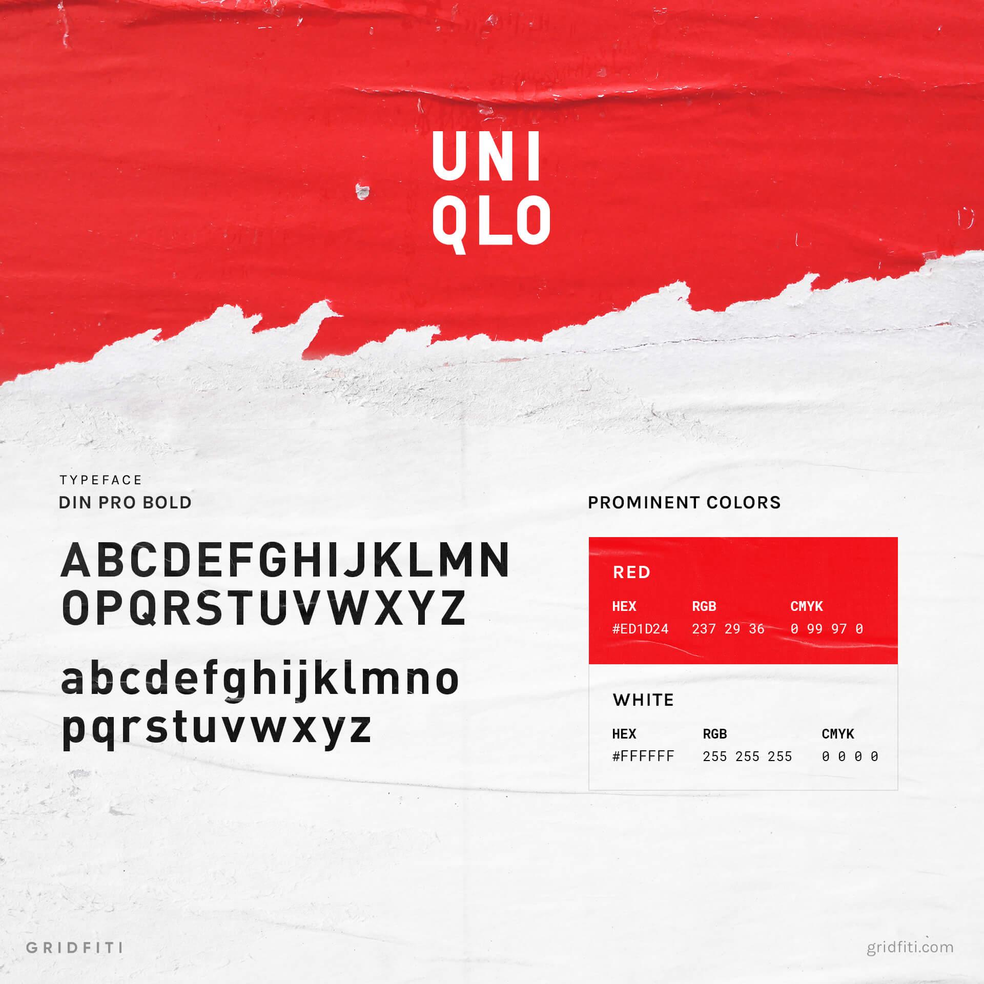 Uniqlo Font