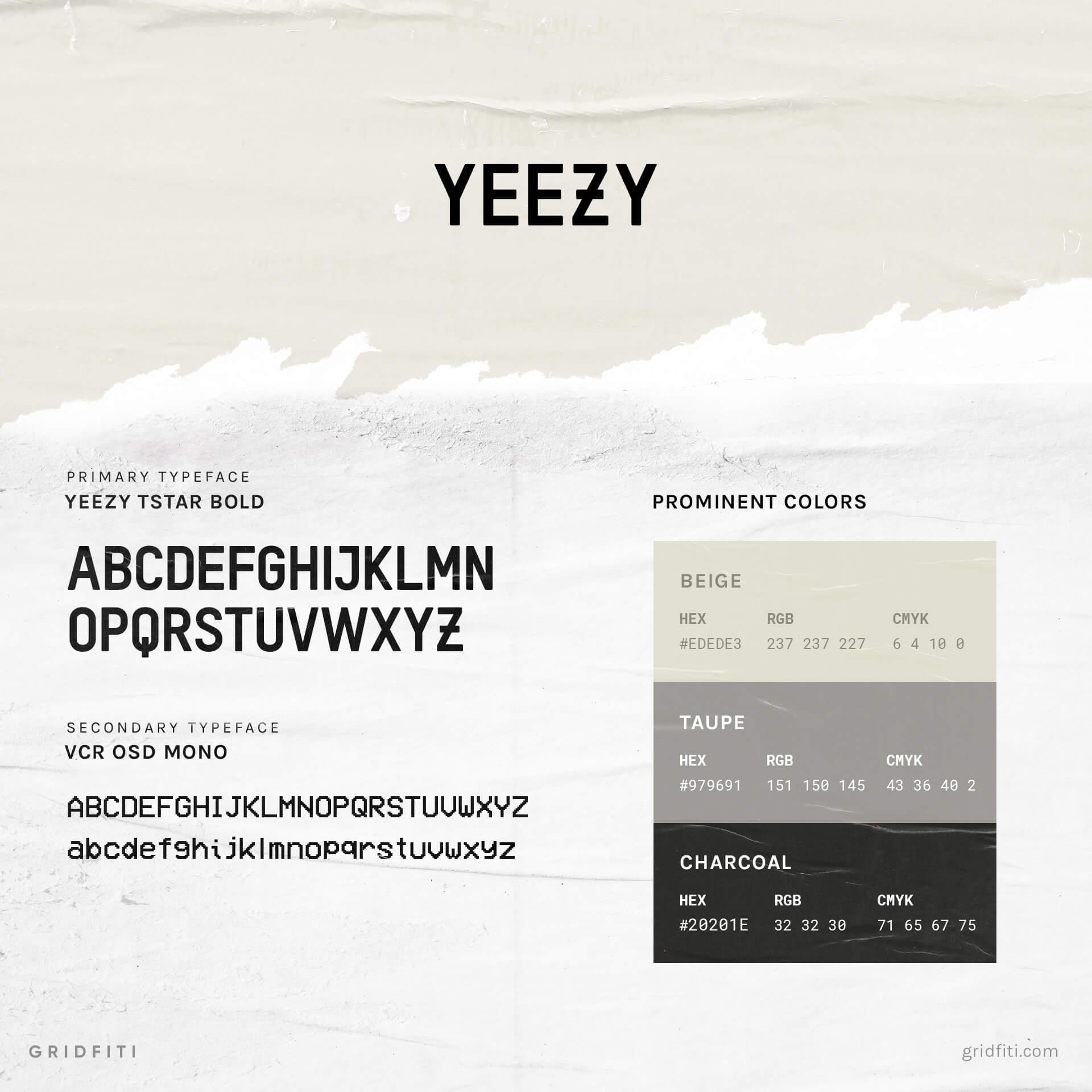 Yeezy Font & Typeface