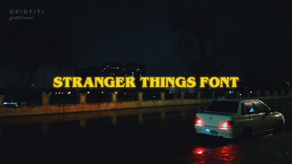 Free Stranger Things Font Download