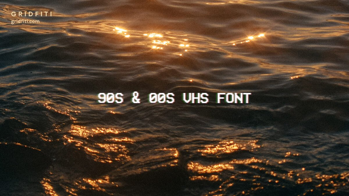 Vintage Aesthetic VHS Text Font