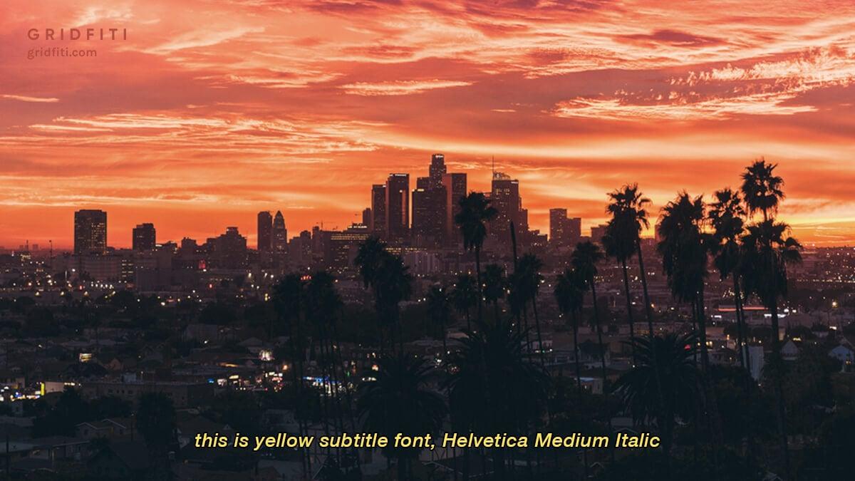 Vintage Yellow Subtitle Font