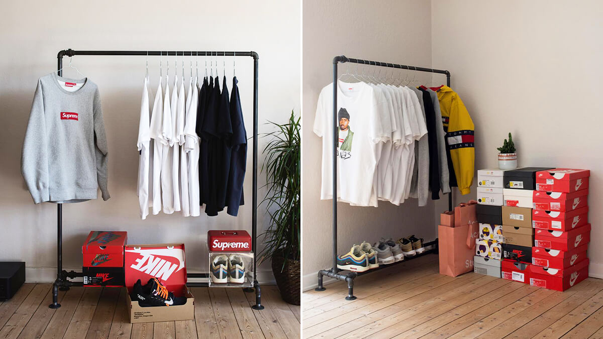 Hypebeast Closet & RackBuddy Clothing Rack