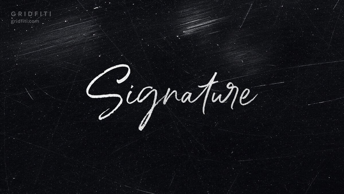 Cursive & Signature Handwritten Fonts