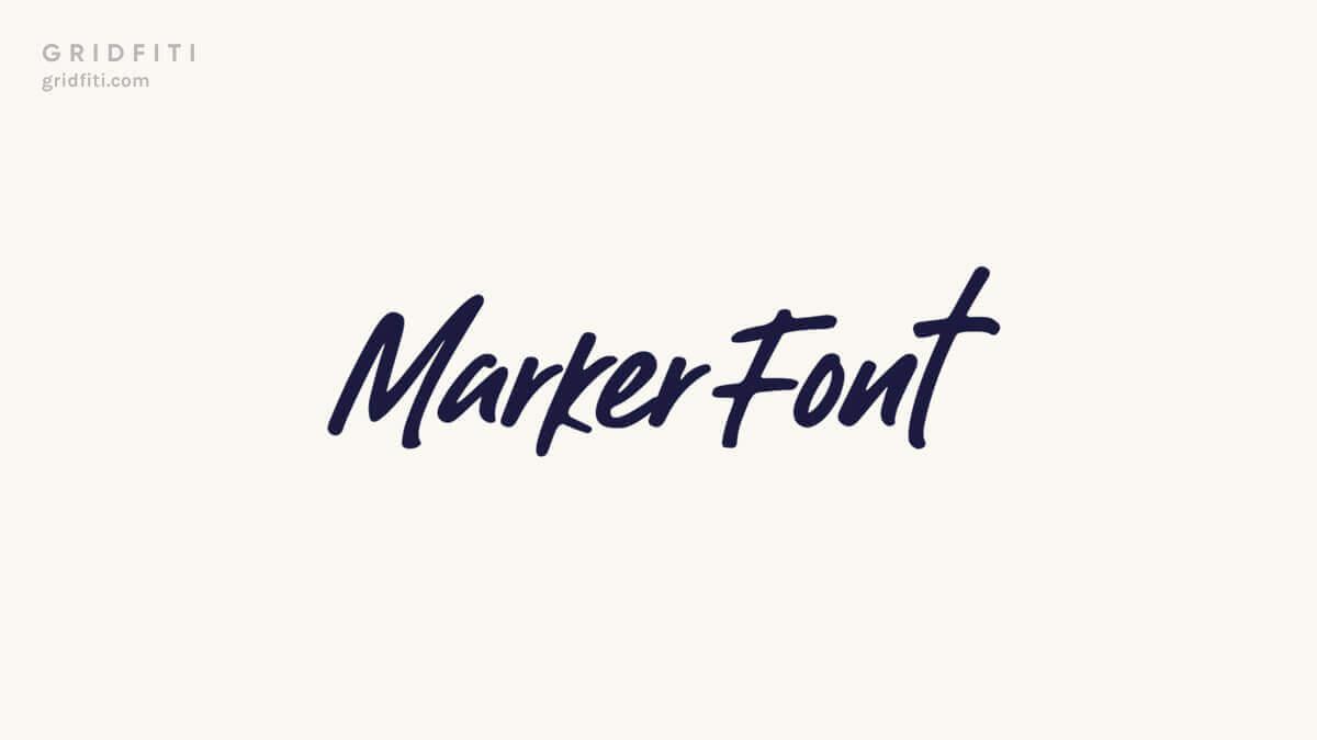 Marker Handwriting Fonts
