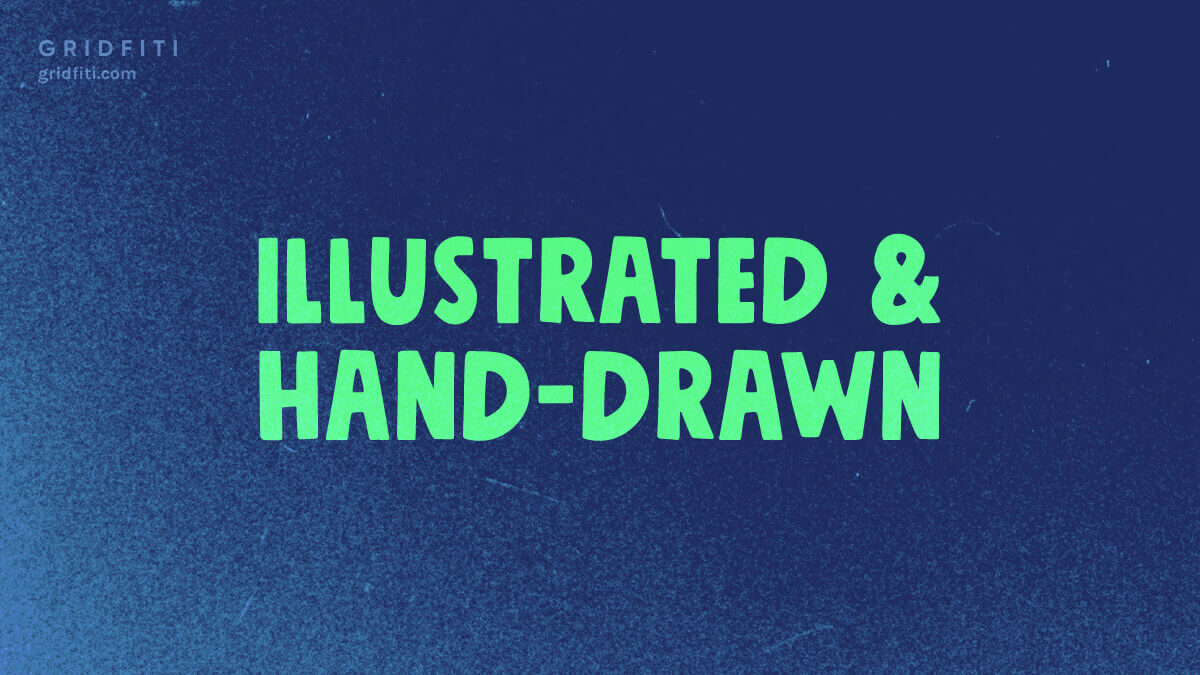 Aesthetic Hand-Drawn Font